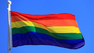 The rainbow flag symbolises homosexuality.