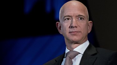 Mega billionaire Jeff Bezos's Amazon has delivered a record profit.