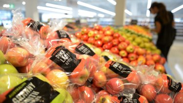 Coles pledged to reduce plastic wrapping on fruit and vegies.