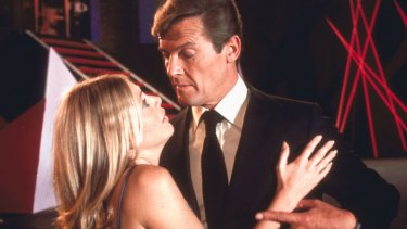 Mary Goodnight (Britt Ekland) and James Bond (Roger Moore) in The Man With the Golden Gun.