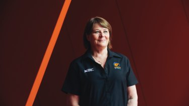 Point to make: Giants coach Julie Fitzgerald.