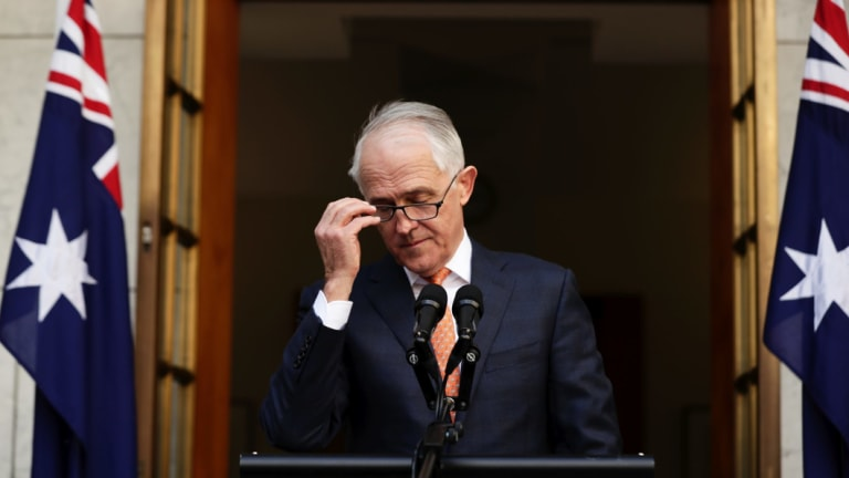 Malcolm Turnbull addresses the media after losing the Liberal leadership in a party room vote.