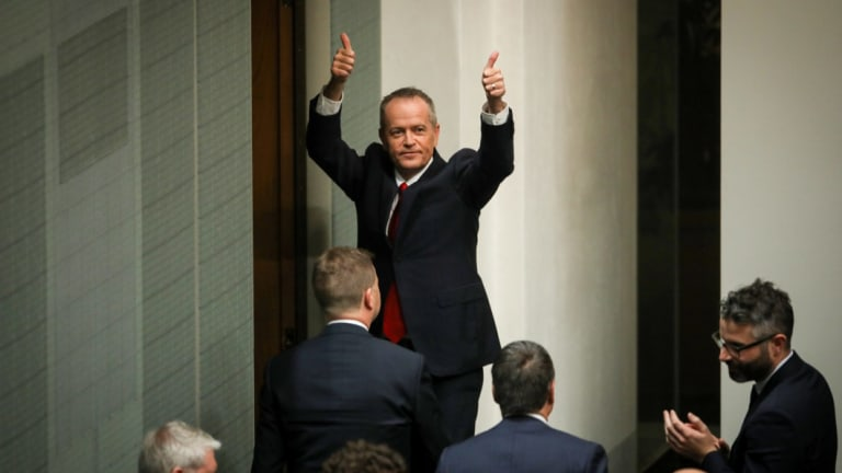 Opposition Leader Bill Shorten after his budget reply speech earlier this month.