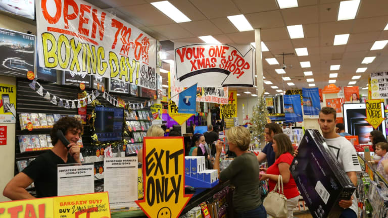 JB Hi-Fi shares jumped as much as 11 per cent on Wednesday.