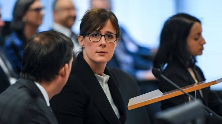 Senior Counsel Rowena Orr in action at the banking royal commission.