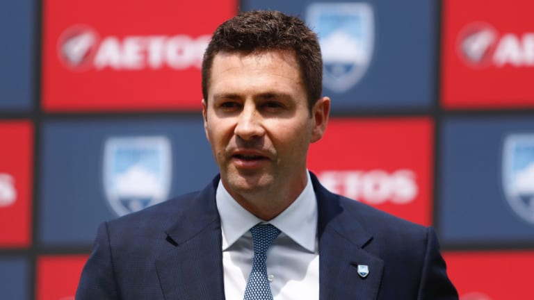 'Very damaging': Sydney FC chairman Scott Barlow is against a southern Sydney team in the A-League.