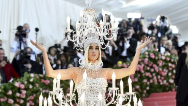 Katy Perry attends The Metropolitan Museum of Art's Costume Institute and keeps a watch out for moths.