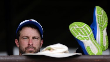 Bolter: Matthew Wade is in contention for a berth in Australia's Ashes squad.