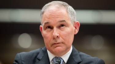 Environmental Protection Agency administrator Scott Pruitt.