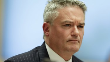 """Minister for Finance Mathias Cormann says suggestions the Liberal Party is behind the fake polling are """"just crazy""""."""