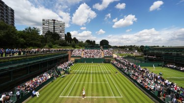 All England tennis club at Wimbledon.