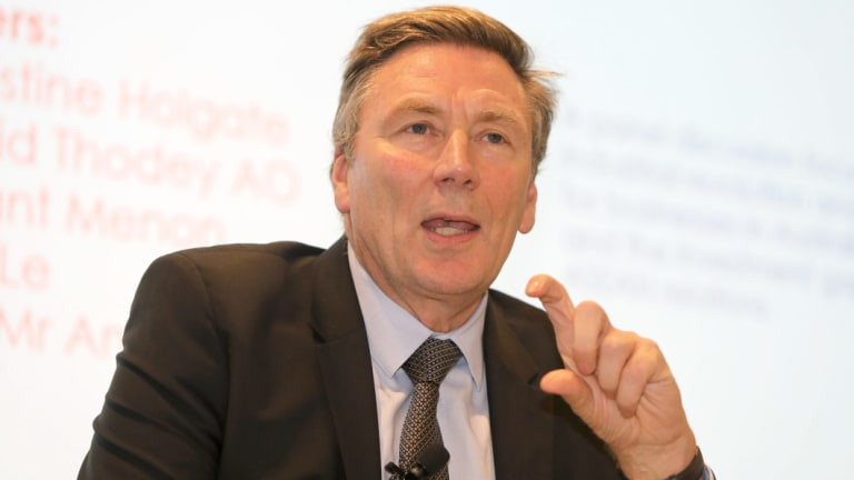 APS review chairman David Thodey's lexicon might be partly responsible for Gordon de Brouwer's complaint.