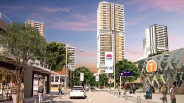 An artist's impression of high-rise towers near the new metro railway station at Waterloo.