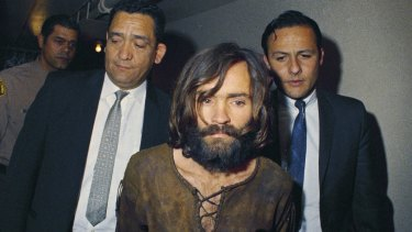 Charles Manson in custody in 1969.