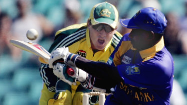 Flashback: Sanath Jayasuriya playing against Australia in 2006.