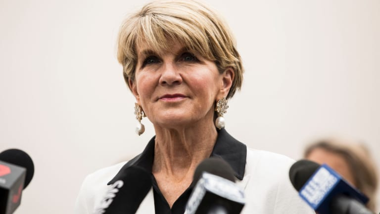 """I am preselected as the member for Curtin and it is my intention to run"": former deputy Liberal leader Julie Bishop."