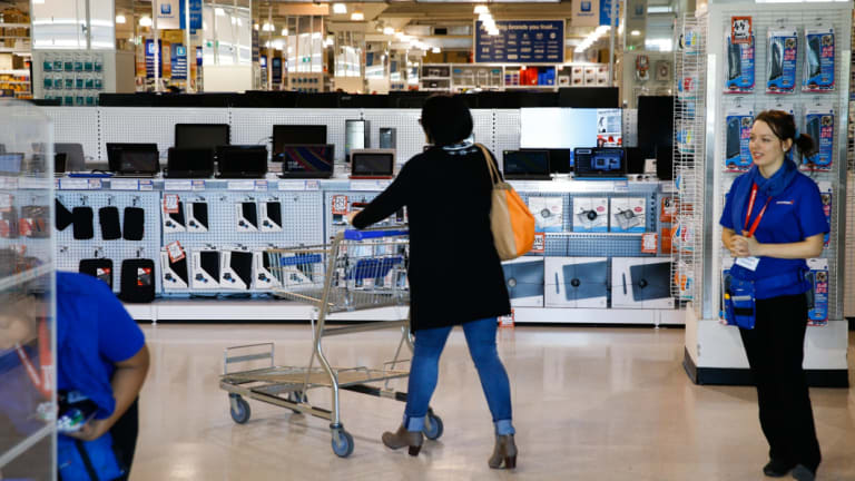 The back-to-school sales period is Officeworks' busiest time of year.