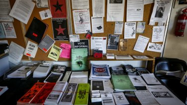 Literature at the Melbourne Anarchist Club in Northcote in happier times.