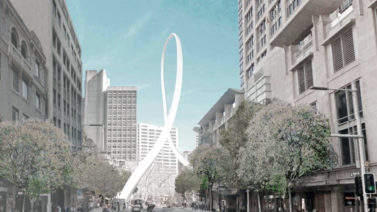 Not going ahead: The Cloud Arch is a victim of the troubled light rail project.
