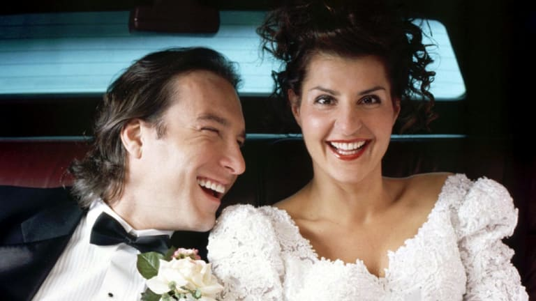 Nia Vardalos and John Corbett starred in My Big Fat Greek Wedding, inspired by Vardalos' real-life relationship.