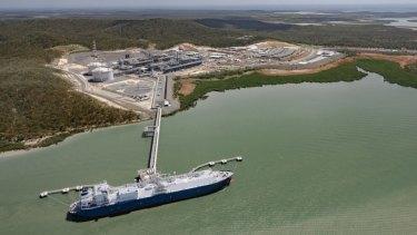 Santos's GLNG project in Queensland.
