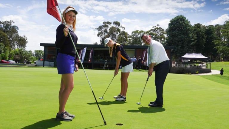 Monaro member and NSW deputy premier John Barilaro announced a $1.2 million facelift for the Queanbeyan Golf Club.