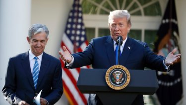 US President Donald Trump announces Federal Reserve board member Jerome Powell as his nominee for the next chair of the Federal Reserve in 2017.
