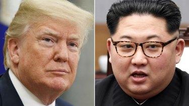 US President Donald Trump and Kim Jong-un.