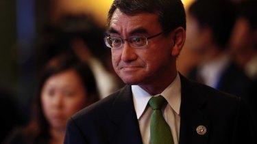 Japanese Foreign Minister Taro Kono.