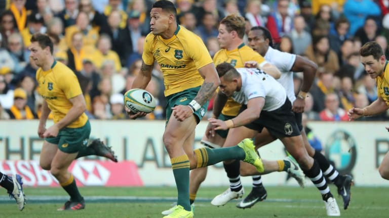 On the nose: Australia's June 10 clash with Fiji drew the lowest ever Wallabies home crowd