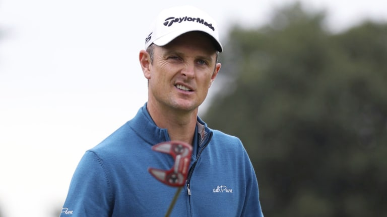 Pole position: Englishman Justin Rose can become No.1 if the poor weather persists.