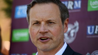Out of the country: Scott Penn has denied his family is trying to sell the Sea Eagles.