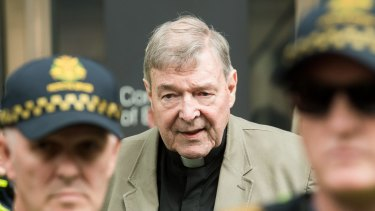 Cardinal George Pell leaving the County Court last week.
