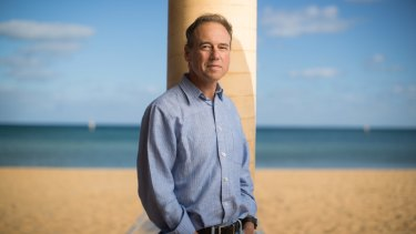 Greg Hunt on Mount Martha beach.