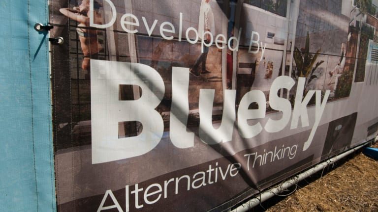 Blue Sky's student accommodation business with Goldman Sachs has come under pressure.