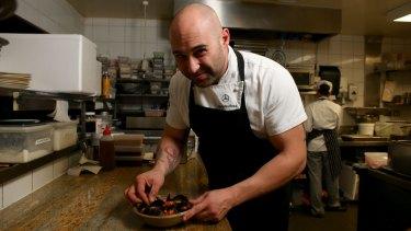 Chef Shane Delia in the kitchen.