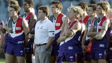 Chris Connolly during his time as coach at Fremantle.