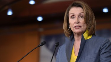 House minority leader Nancy Pelosi of California during a news conference on Capitol Hill in Washington.