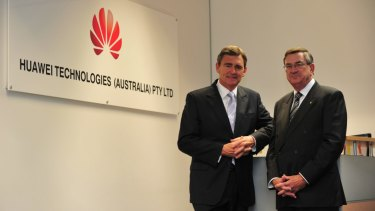 Former Victorian premier John Brumby and John Lord were announced as board members of Huawei in May 2011.