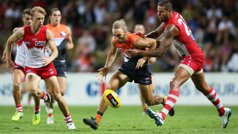 Giants defender Matt Buntine will be tasked with shutting down Adelaide superstar Eddie Betts at Manuka Oval.