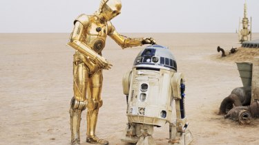 R2D2 and C3PO on Tatooine in a scene from the Star Wars series. Technology will continue to generate more jobs than it destroys, largely because robots do not have the skill set of humans, the Deloitte report says.