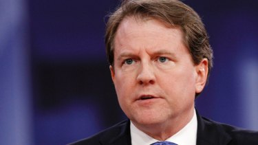 Former White House counsel Donald McGahn.