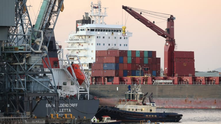 The Port of Newcastle wants to build a container terminal.