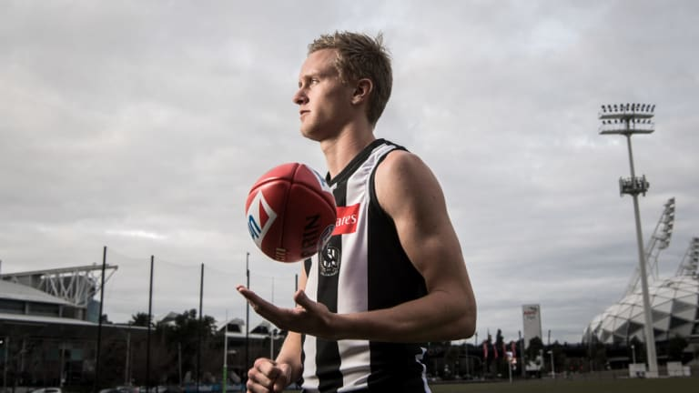 Jaidyn Stephenson has had a huge influence at Collingwood in his first season, playing all 22 of their games.