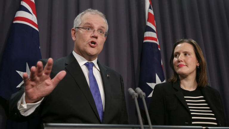 Treasurer Scott Morrison and Financial Services Minister Kelly O'Dwyer.