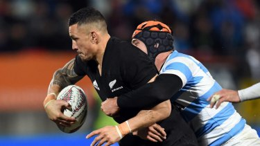 He's back: Sonny Bill Williams will return from injury against Argentina.