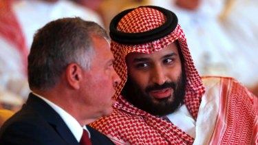 Saudi Crown Prince Mohammed bin Salman at an event in Saudi Arabia.