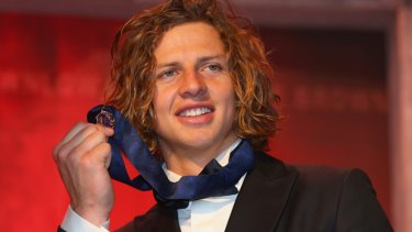 Fyfe enjoyed winning the 2015 Brownlow ... just for a while.