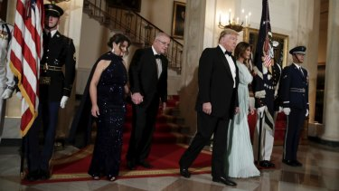 The leaders were joined by high-profile Australians at an official dinner at the White House on Friday night.