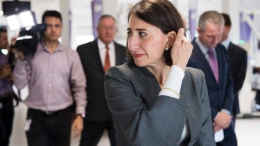 Premier Gladys Berejiklian's priorities have shifted according to the latest bundle of plans released this month.